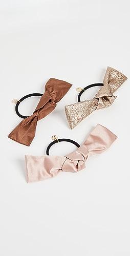 LELET NY - Bow Hair Tie Elastic Set of 3