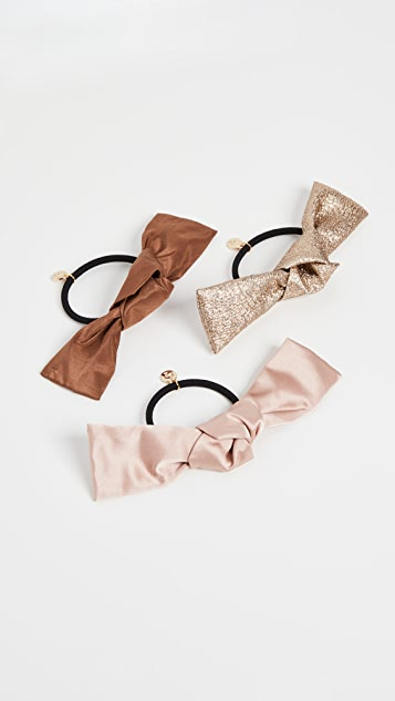 LELET NY Bow Hair Tie Elastic Set of 3