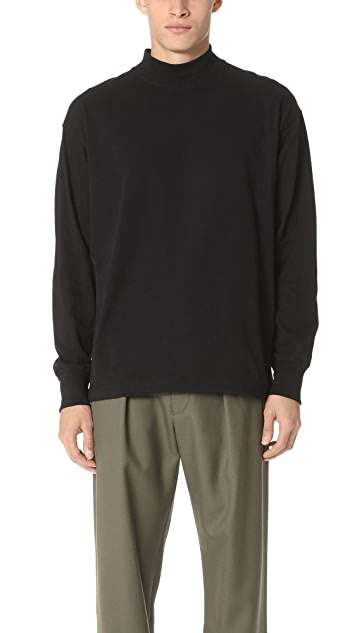Lemaire High Collar Long Sleeve Tee