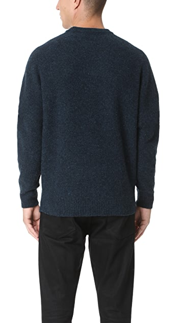 Lemaire Oversized Shetland Wool Crew Sweater