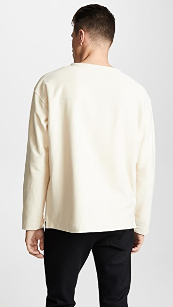 Lemaire Boat-Neck Long Sleeve Tee