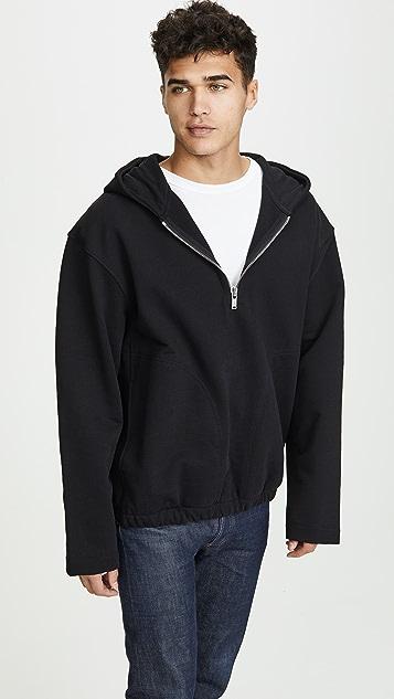 Lemaire Hooded Zipped Sweatshirt