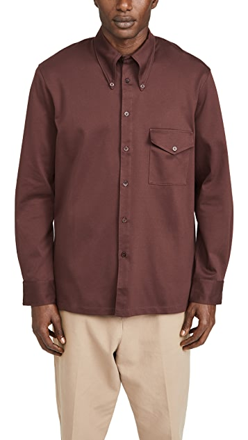 Lemaire Jersey Long Sleeve Shirt