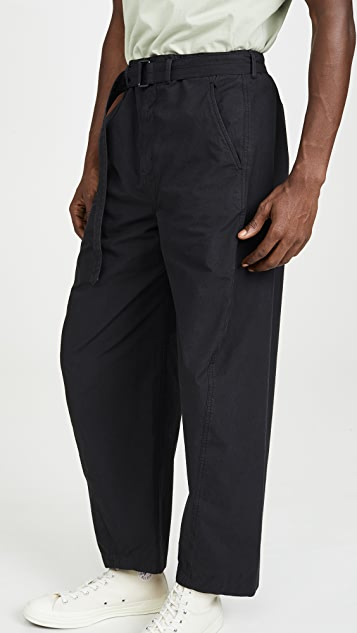 Lemaire Garment Dyed Cotton Twisted Pants