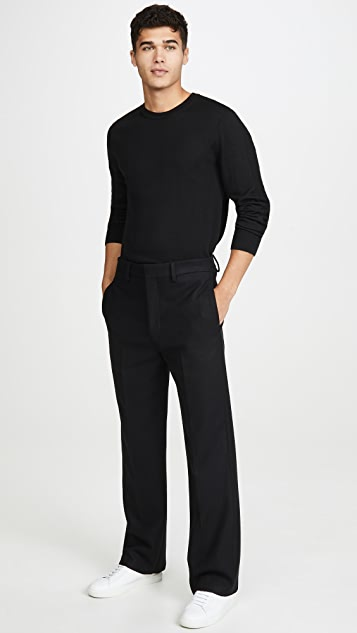 Lemaire Felted Wool Straight Leg Pants
