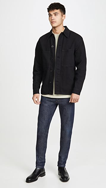 Lemaire Garment Dyed Denim Overshirt