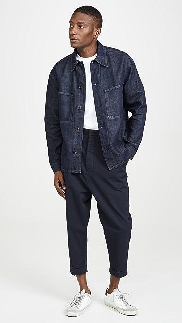 Lemaire Garment Dyed Denim Overshirt