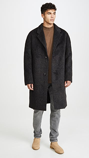 Lemaire Hairy Wool Chesterfield Coat