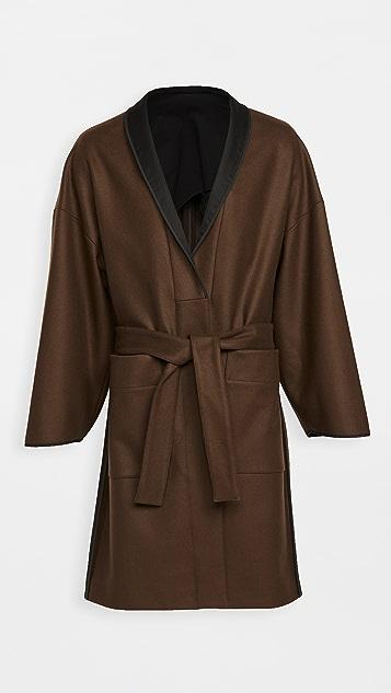 Lemaire Wool Melton Kimono Coat