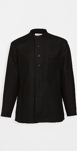 Lemaire - Light Felted Wool Long Overshirt