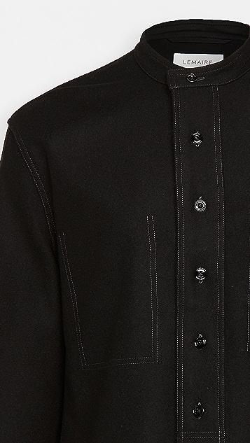 Lemaire Light Felted Wool Long Overshirt