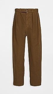 Lemaire Cotton Ventile 4 Pleats Pants
