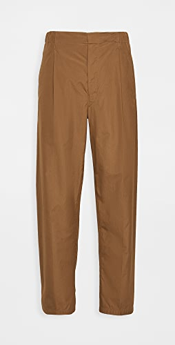Lemaire - Cotton Poplin Pleated Drawstring Pants