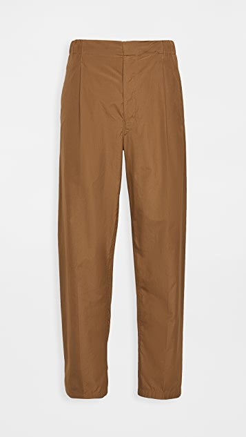 Lemaire Cotton Poplin Pleated Drawstring Pants
