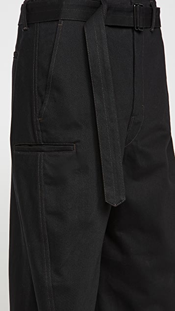 Lemaire Heavy Denim Twisted Pants