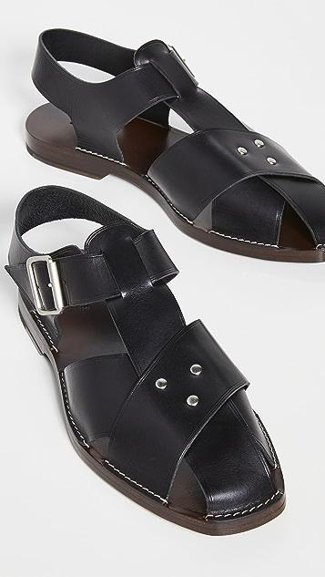 Lemaire Strap Sandals