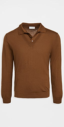Lemaire - Knitted V Neck Polo Shirt