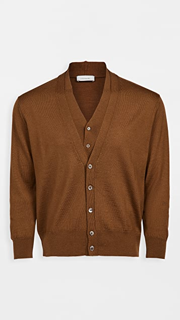 Lemaire Knitted Double Collar Cardigan