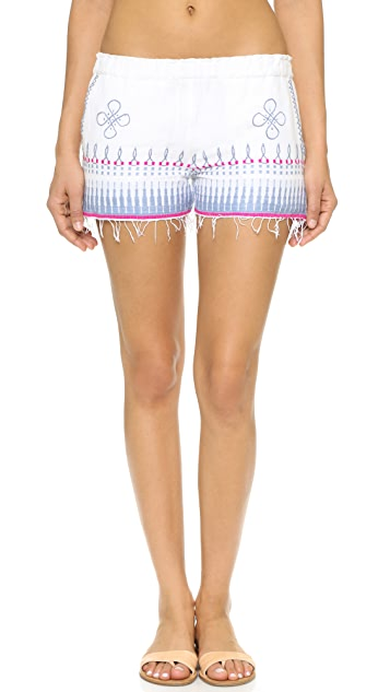 Lemlem Wubit Embroidered Shorts