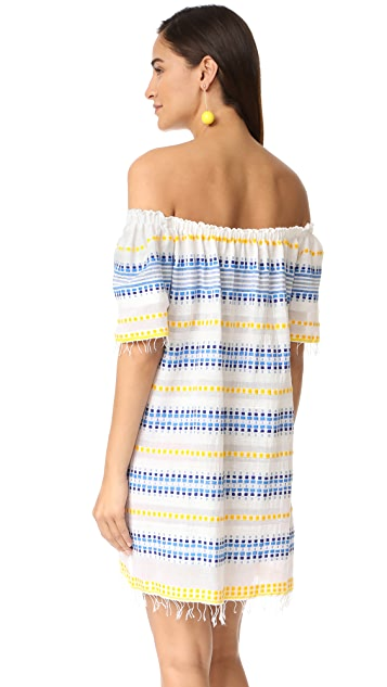 Lemlem Tabtab Off Shoulder Dress