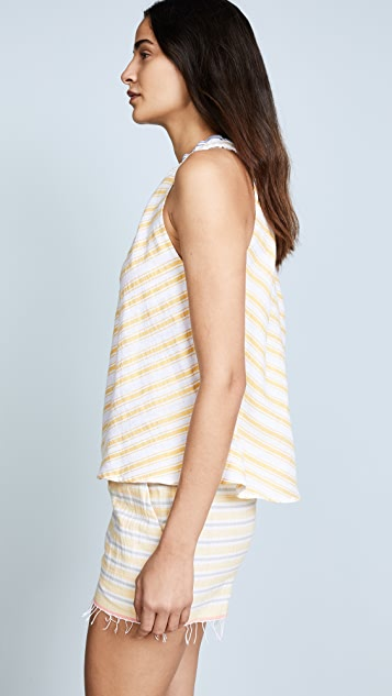 Lemlem Alfie One Shoulder Top