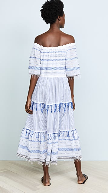 Lemlem Tiki Long Tier Dress