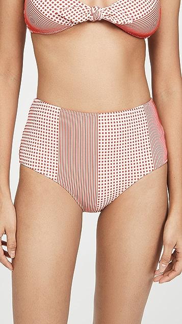 Lemlem Semira High Waisted Bikini Bottoms