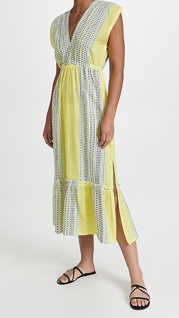 Lemlem Amira Sleeveless Plunge Dress