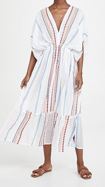 Lemlem Hiwot Plunge Neck Dress