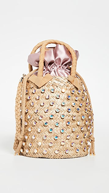 Le Nine Nina Satin Crystal Bag