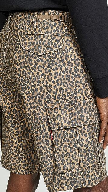 Levi's Red Tab Cheetah Print Cargo Shorts
