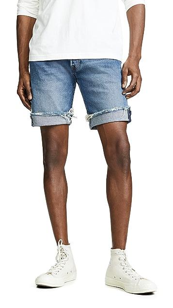 Levi's Red Tab Medium Washed Cutoff Denim Shorts