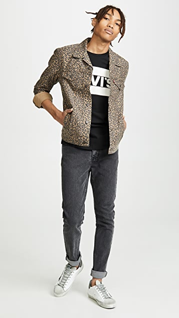 Levi's Red Tab Cheetah Print Denim Jacket