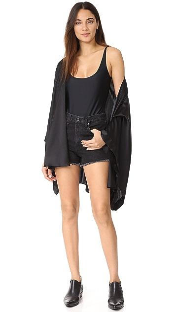 Les Coquines Noelle Lace Open Back Bodysuit
