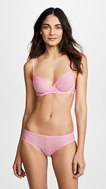 Les Girls, Les Boys Shiny Stripe Underwire Bra