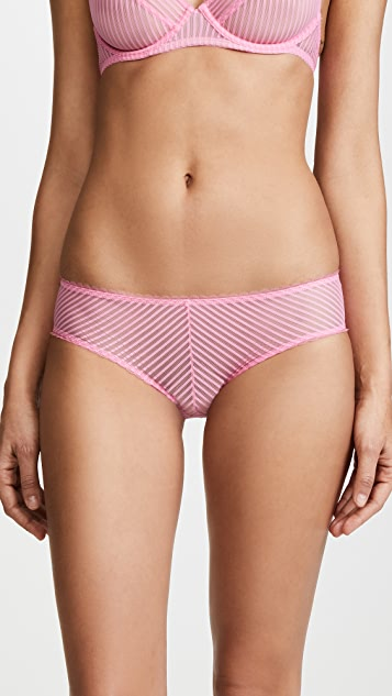 Les Girls, Les Boys Shiny Stripe Boy Leg Briefs