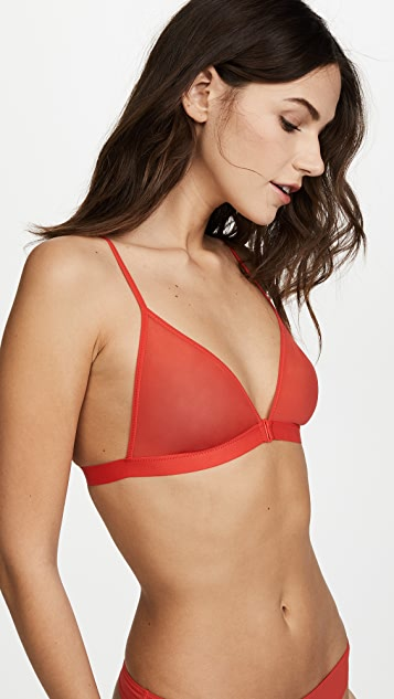 Les Girls, Les Boys Sheer Mesh Triangle Bra