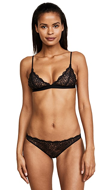 Les Girls, Les Boys Daisy Lace Triangle Bra