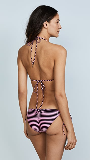 Les Girls, Les Boys Stripe Triangle Bikini Top