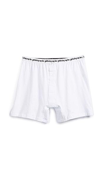 Les Girls, Les Boys Single Jersey Trunk Boxers