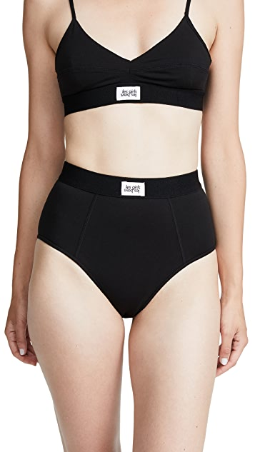 Les Girls, Les Boys Jersey Mid Rise Briefs