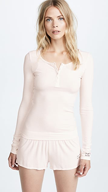 Les Girls, Les Boys Fine Rib Long Sleeve Henley