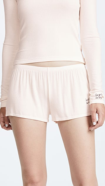 Les Girls, Les Boys Fine Rib Shorts