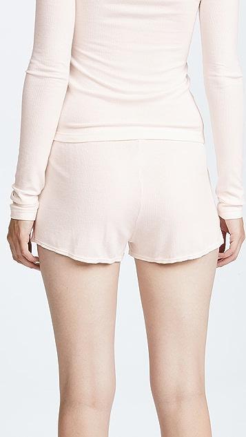 Les Girls, Les Boys Fine Rib Shorts
