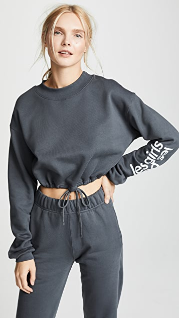 Les Girls, Les Boys Loopback Crop Sweatshirt