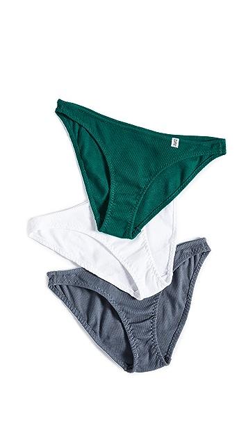 Les Girls Les Boys Baby 平针织迷你短内裤 3 件装