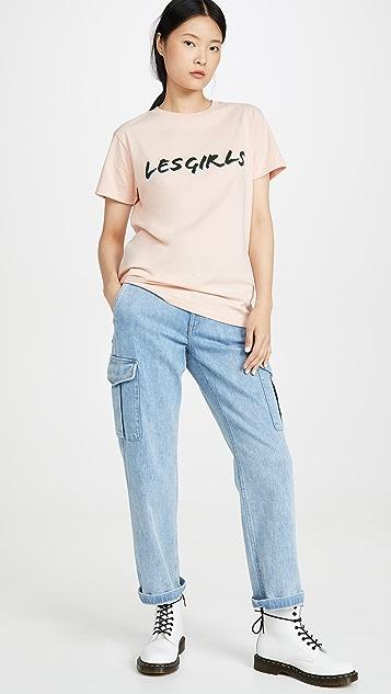Les Girls Les Boys Shadow Girls T-Shirt