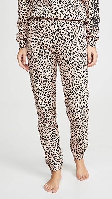 Les Girls Les Boys Brushbacks Slim Track Pants