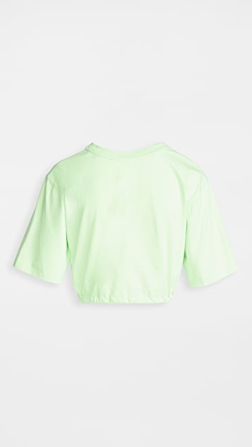 Les Girls Les Boys Cropped Drawstring Tee