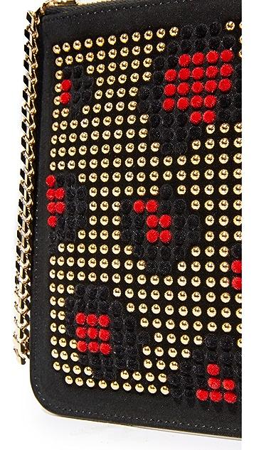 les petits joueurs Small Leopard Envelope Clutch